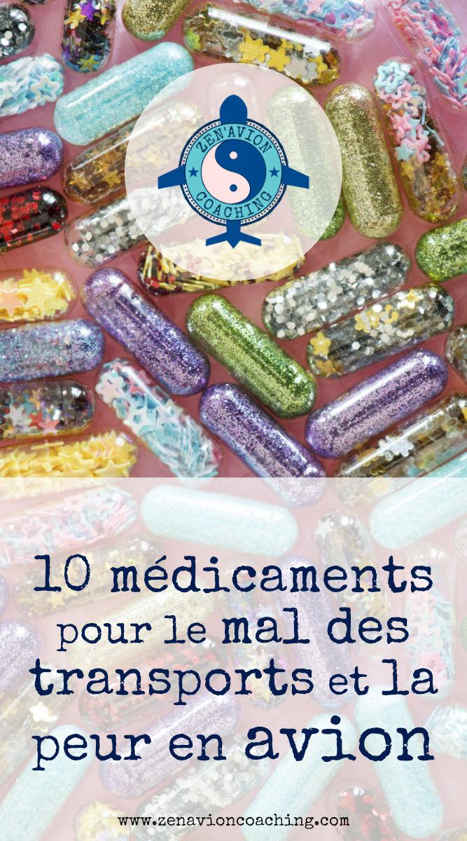 10 médicaments contre la peur en avion