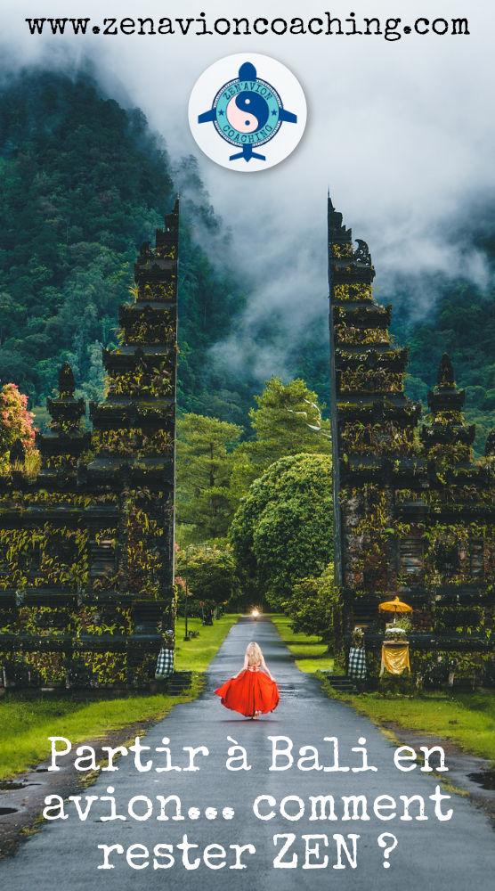 Prendre l'avion sereinement pour Bali