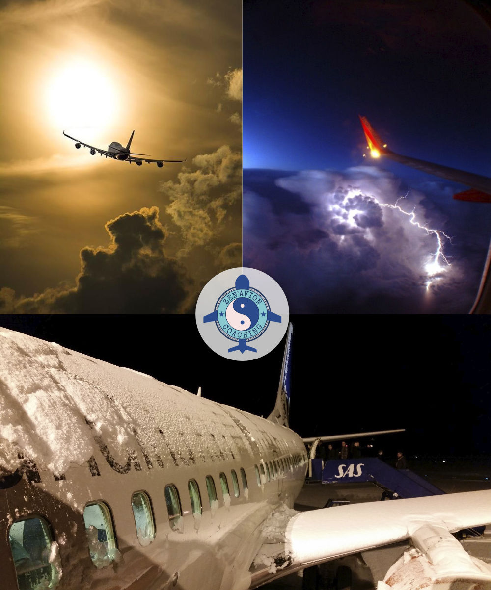 mauvaises conditions météo en avion