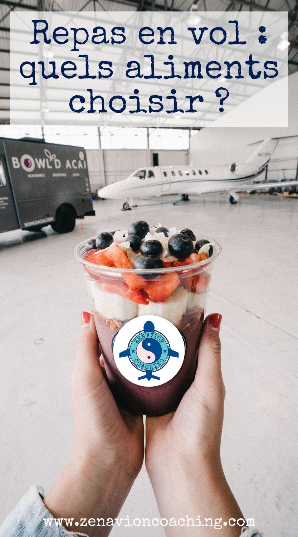 repas en vol : quels aliments ?